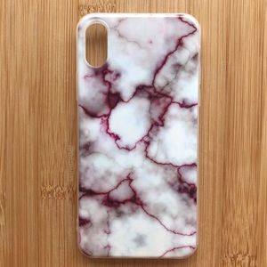 Accessories - NEW Iphone X Purple Marble Granite Stone Case